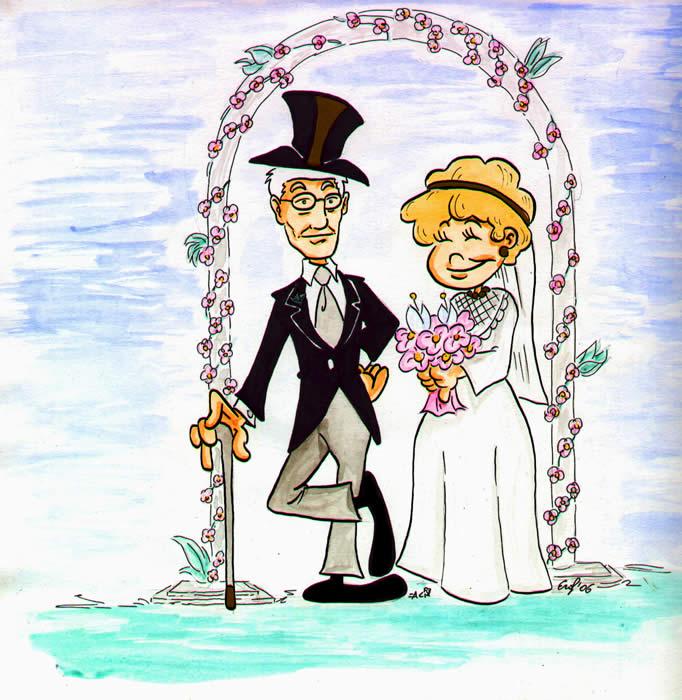 Kia e kick paul evviva gli sposi corsia4 for Disegni matrimonio